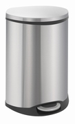 Shell Recycling Bin, 44 ltr mat RVS