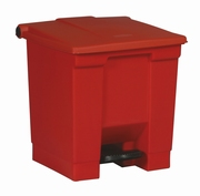 Step-On container 30 ltr, rood