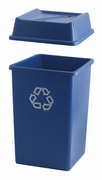 Styleline container 132 ltr, blauw, recyclingsym