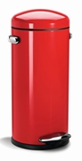 Round Retro Step Can 30 liter, rood