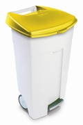 Eco Step-On container 106 ltr wit, geel