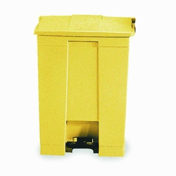 Step-On container 68 ltr, geel