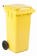 Mini-container 120 ltr geel