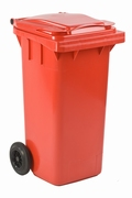 Mini-container 120 ltr rood