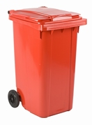 Mini-container 240 ltr rood
