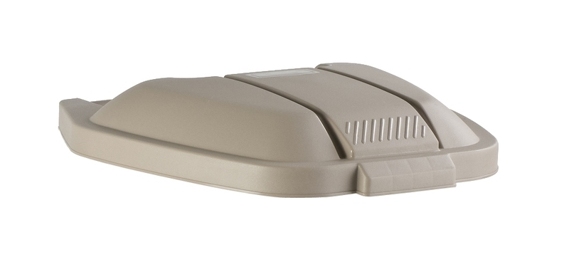 Deksel mobiele container, Rubbermaid beige