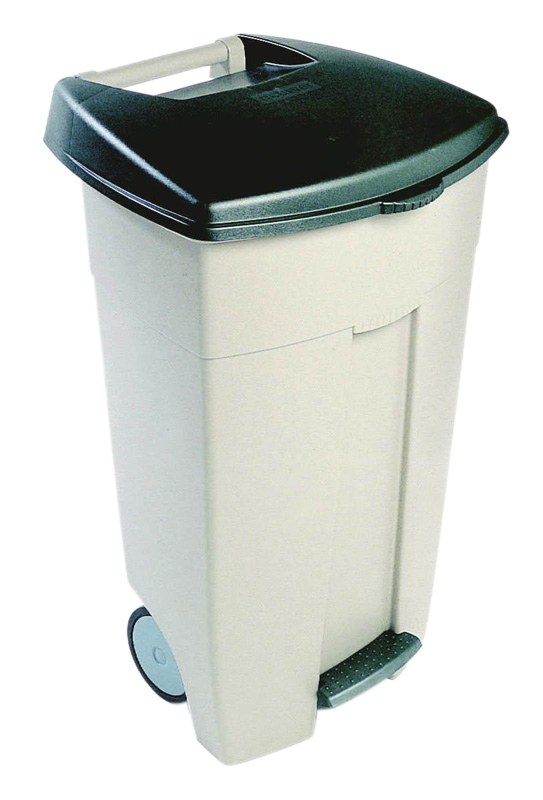 Eco Step-On container 106 ltr  beige, groen
