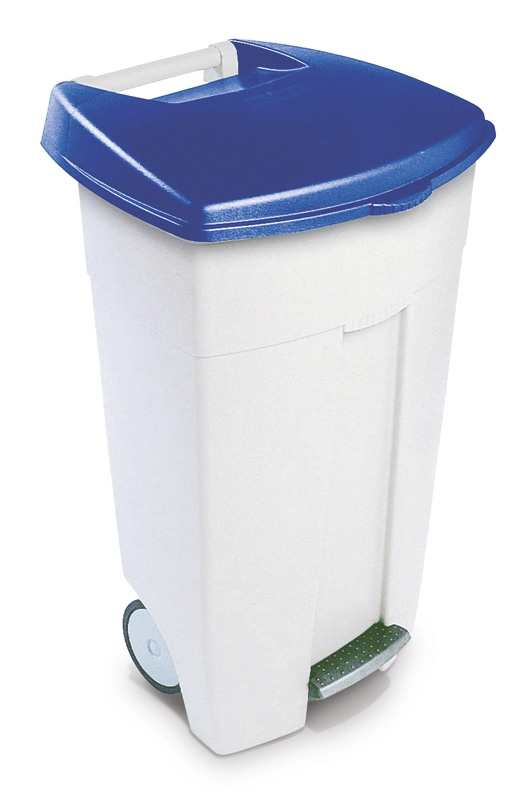 Eco Step-On container 106 ltr wit, blauw