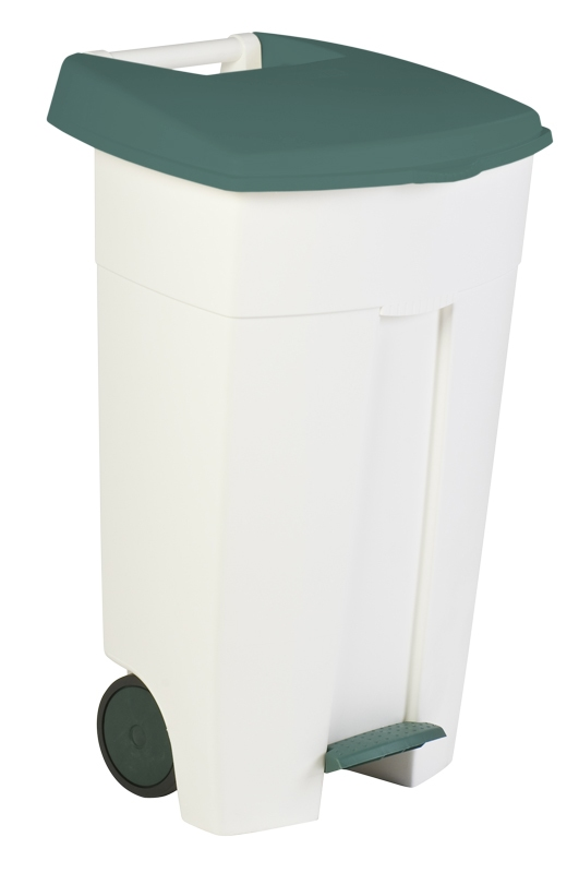 Eco Step-On container 106 ltr wit, groen
