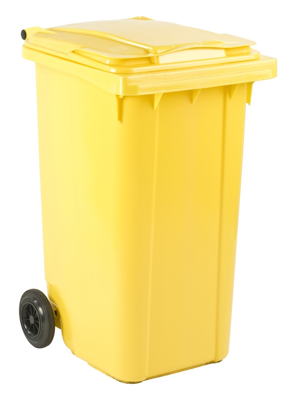 Mini-container 240 ltr geel