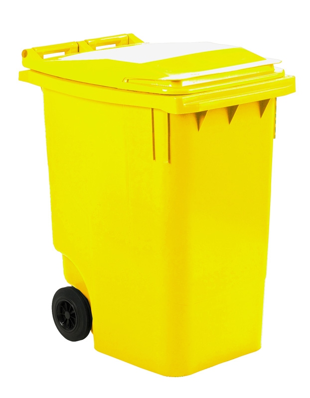 Mini-container 360 ltr geel