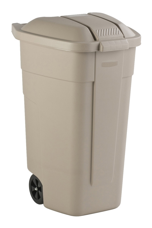 Mobiele container 100 ltr beige