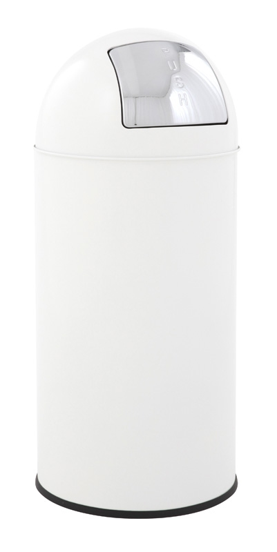 Pushcan 40 ltr, wit