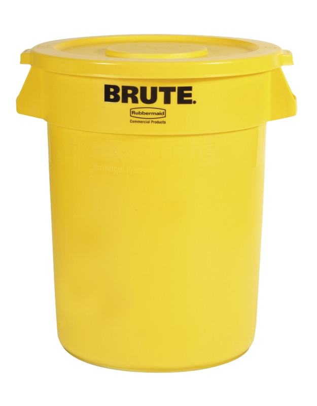 Ronde Brute container 121,1 ltr, geel
