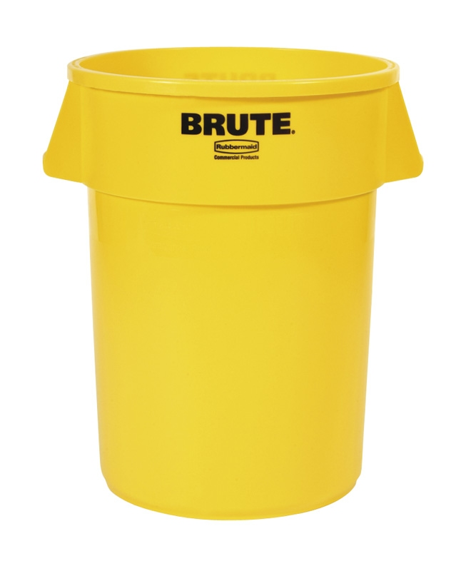 Ronde Brute container 166,5 ltr, geel
