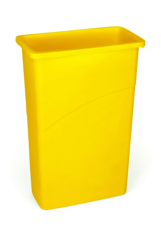 Slim Jim container 87 ltr, geel
