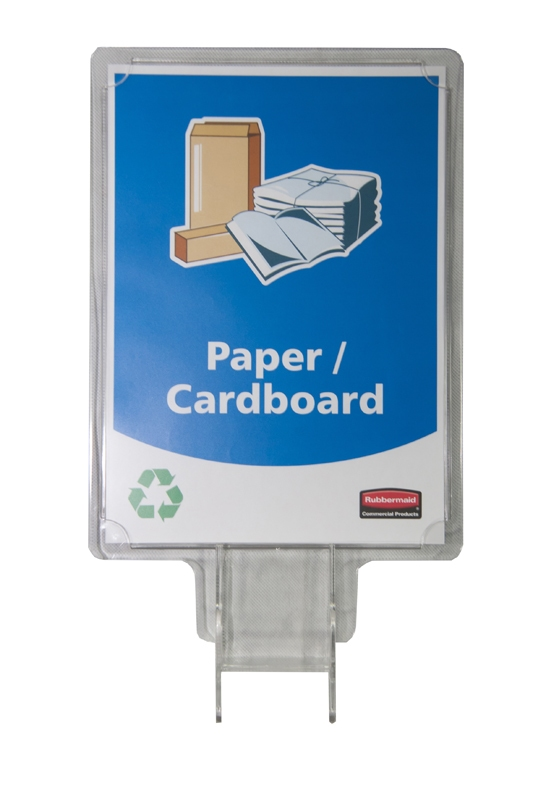 Slim Jim recycling panel, transparant