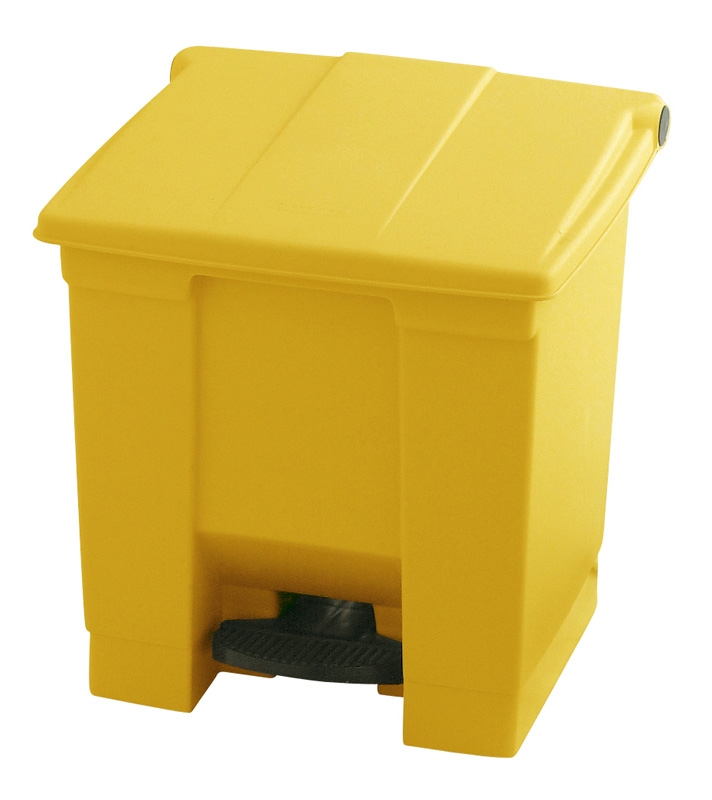 Step-On container 30 ltr, geel