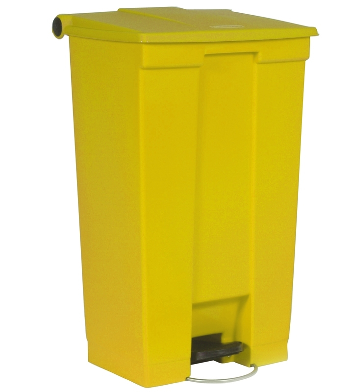 Step-On container 87 ltr, geel