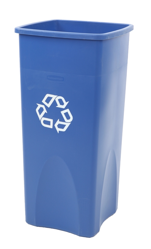 Untouchable container 87 ltr, blauw, recyclingsymbool