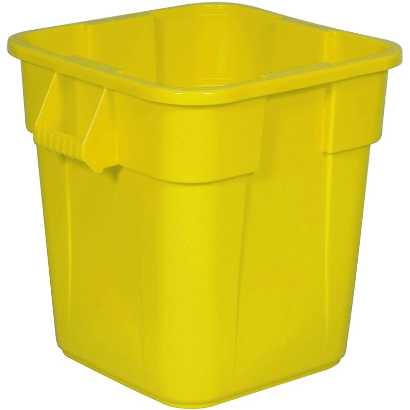 Vierkante Brute container 106 ltr, geel